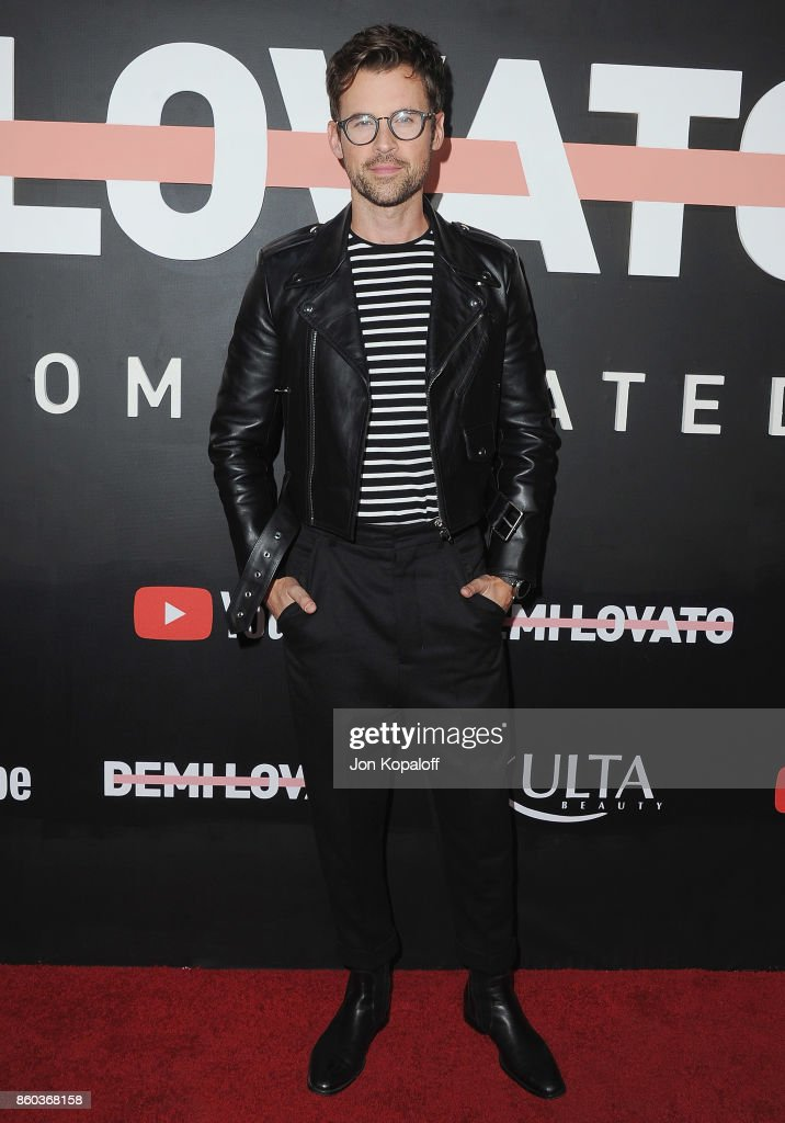 Brad Goreski arrives at the premiere of YouTube's 'Demi Lovato: Simply Complicated' on October 11, 2017 at the Fonda Theatre in Los Angeles, California.
