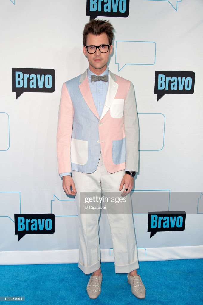 <a gi-track='captionPersonalityLinkClicked' href=/galleries/search?phrase=Brad+Goreski&family=editorial&specificpeople=3255296 ng-click='$event.stopPropagation()'>Brad Goreski</a> attends Bravo Upfront 2012 at Center 548 on April 4, 2012 in New York City.