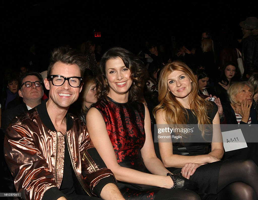 <a gi-track='captionPersonalityLinkClicked' href=/galleries/search?phrase=Brad+Goreski&family=editorial&specificpeople=3255296 ng-click='$event.stopPropagation()'>Brad Goreski</a>, <a gi-track='captionPersonalityLinkClicked' href=/galleries/search?phrase=Bridget+Moynahan&family=editorial&specificpeople=204689 ng-click='$event.stopPropagation()'>Bridget Moynahan</a>, and <a gi-track='captionPersonalityLinkClicked' href=/galleries/search?phrase=Connie+Britton&family=editorial&specificpeople=234699 ng-click='$event.stopPropagation()'>Connie Britton</a> attend Monique Lhuillier during Fall 2013 Mercedes-Benz Fashion Week at The Theatre at Lincoln Center on February 9, 2013 in New York City.