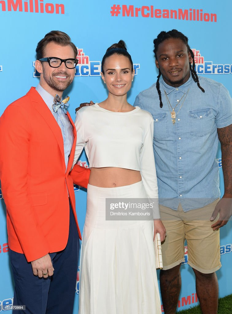 Brad Goreski, Jordana Brewster and Chris Johnson attend the Mr. Clean Summer Fashion Party at Root Drive In on July 1, 2014 in New York City.