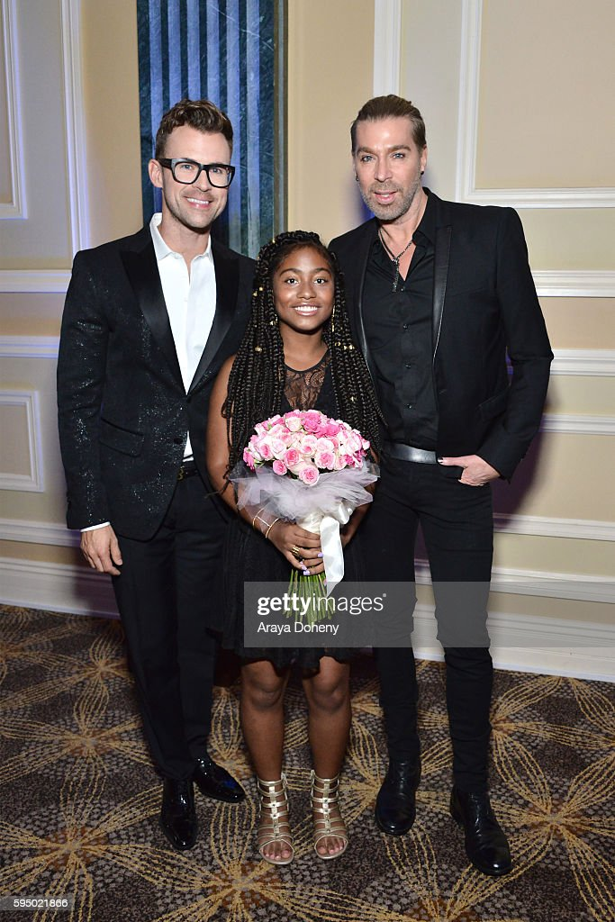 Brad Goreski MakeAWish recipient Stacy and Chaz Dean attend the Inaugural Fashion Show Benefiting MakeAWish with BCBGMAXAZRIA and Celebrity Host Brad...