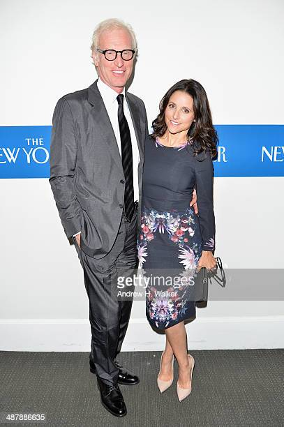 Brad Hall and Actress Julia LouisDreyfus attend the White House Correspondents' Dinner Weekend PreParty hosted by The New Yorker's David Remnick at...