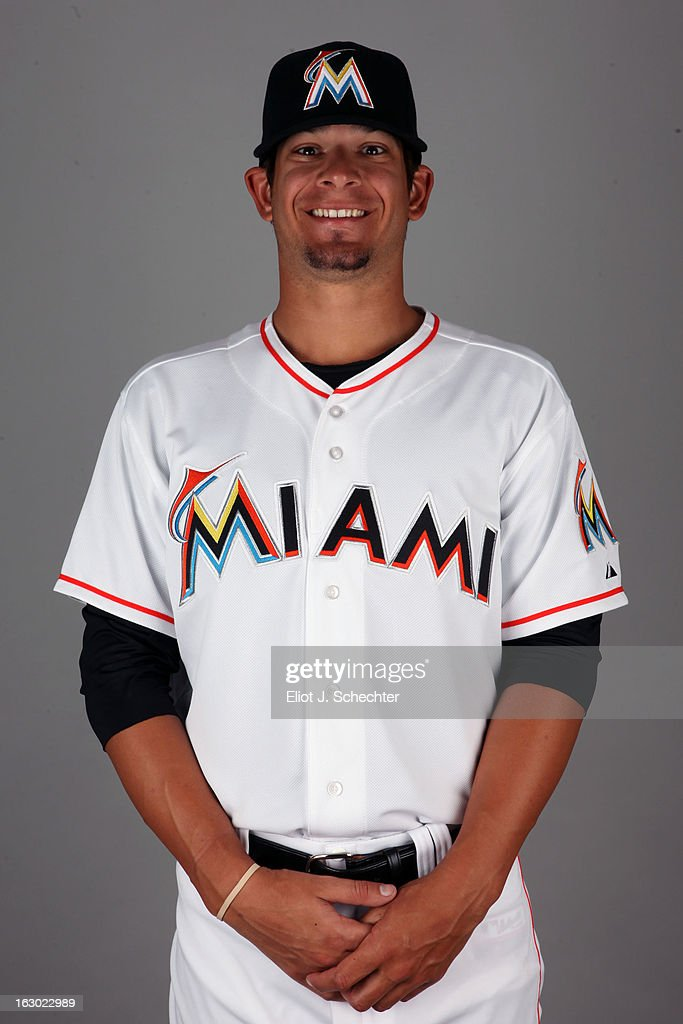 Brad Hand #52 of the Miami Marlins poses during Photo Day on Friday, February 22, 2013 at Roger Dean Stadium in Jupiter, Florida.