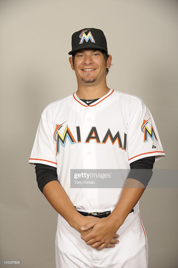 Brad Hand (52) of the Miami Marlins poses during Photo Day on Monday, February 27, 2012 at Roger Dean Stadium in Jupiter, Florida.