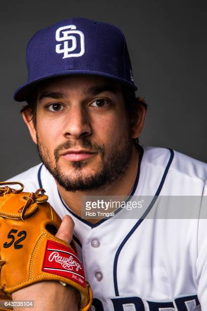 Brad Hand of the San Diego Padres poses for a portrait at the Peoria Sports Complex on February 19 2017 in Peoria Arizona