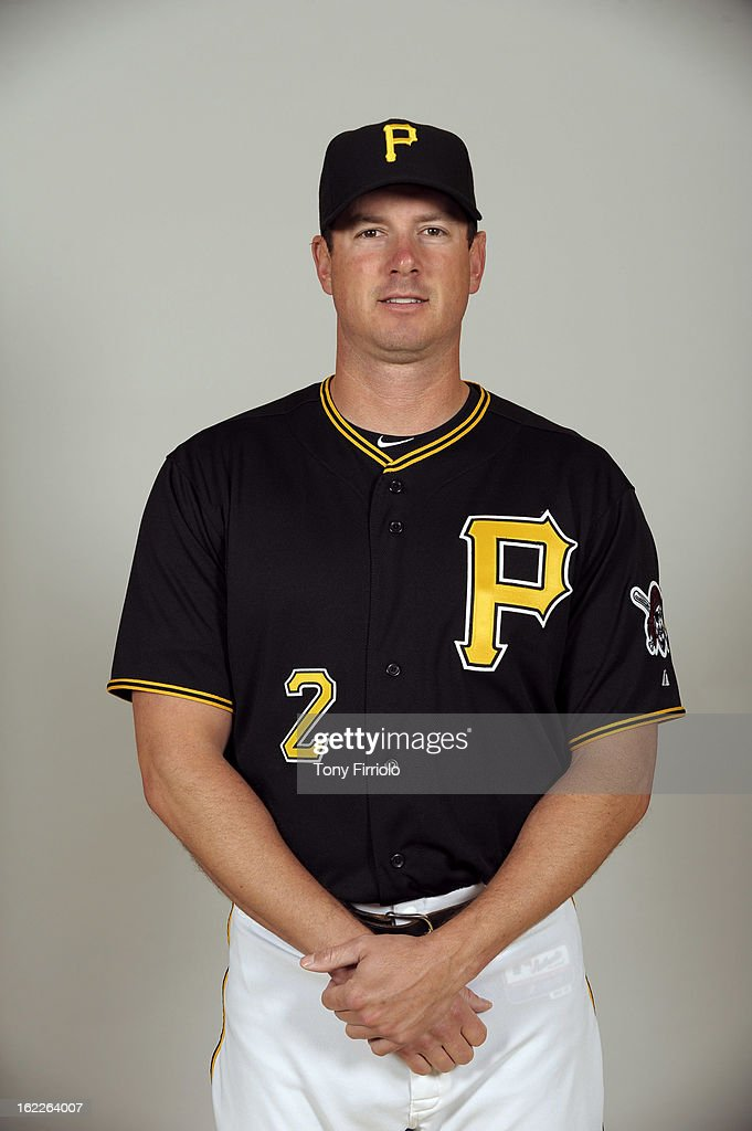 Brad Hawpe #2 of the Pittsburgh Pirates poses during Photo Day on February 17, 2013 at McKechnie Field in Bradenton, Florida.