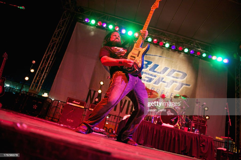 Brad Henderson of the Colt Ford Band during Bud Light Music First 50/50/1 on August 1, 2013 in Nashville, Tennessee.