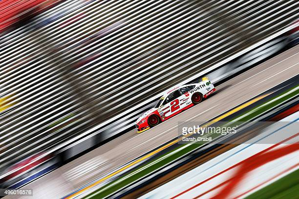 Brad Keselowski driver of the Wurth Ford practices for the NASCAR Sprint Cup Series AAA Texas 500 at Texas Motor Speedway on November 6 2015 in Fort...