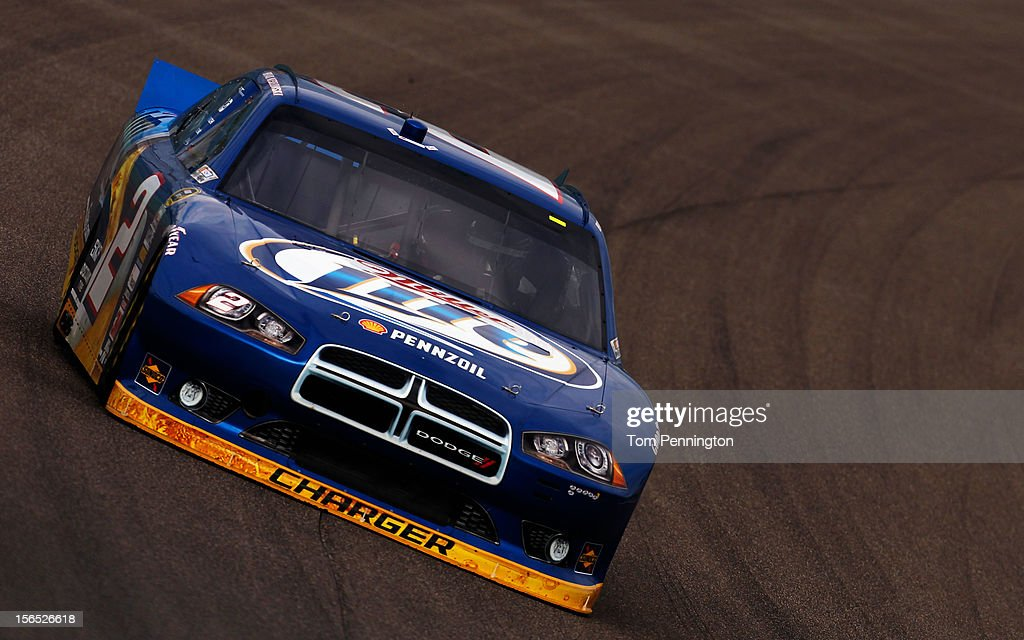 <a gi-track='captionPersonalityLinkClicked' href=/galleries/search?phrase=Brad+Keselowski&family=editorial&specificpeople=890258 ng-click='$event.stopPropagation()'>Brad Keselowski</a> drives the #2 Miller Lite Dodge during practice for the NASCAR Sprint Cup Series Ford EcoBoost 400 at Homestead-Miami Speedway on November 16, 2012 in Homestead, Florida.
