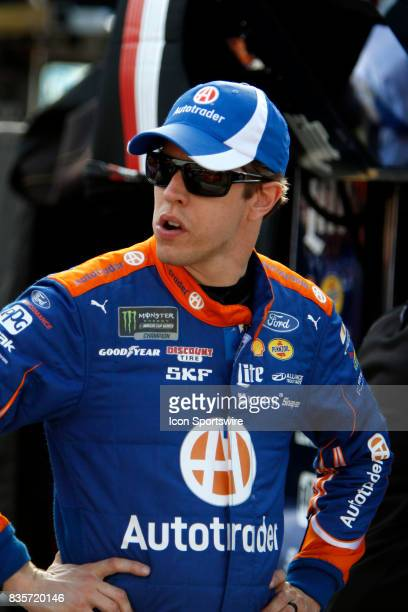 Brad Keselowski Penske Racing Autotrader Ford Fusion during practice for the Bass Pro Shop NRA 500 at Bristol Motor Speedway on August 18 2017 Photo...