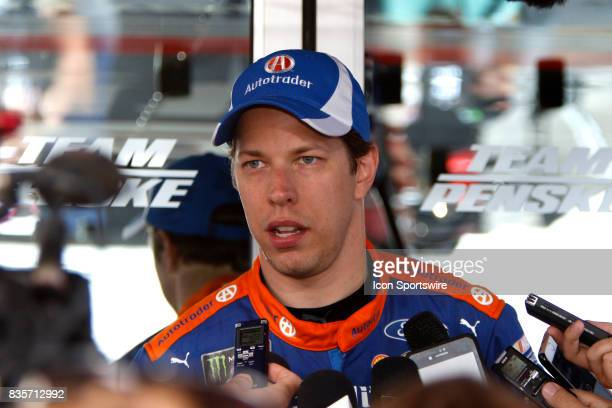 Brad Keselowski Penske Racing Autotrader Ford Fusioni during practice for the Bass Pro Shop NRA 500 at Bristol Motor Speedway on August 18 2017 Photo...