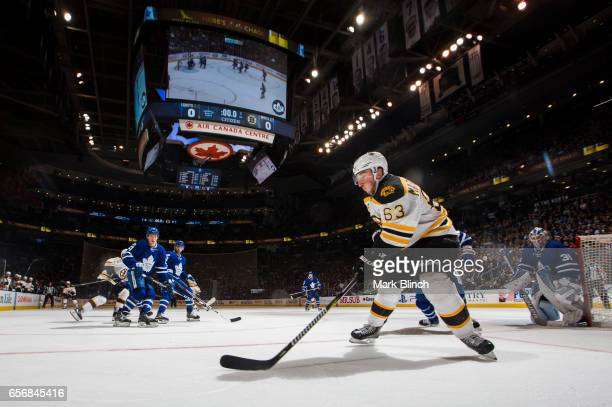 Brad Marchand of the Boston Bruins skates against the Toronto Maple Leafs during the second period at the Air Canada Centre on March 20 2017 in...
