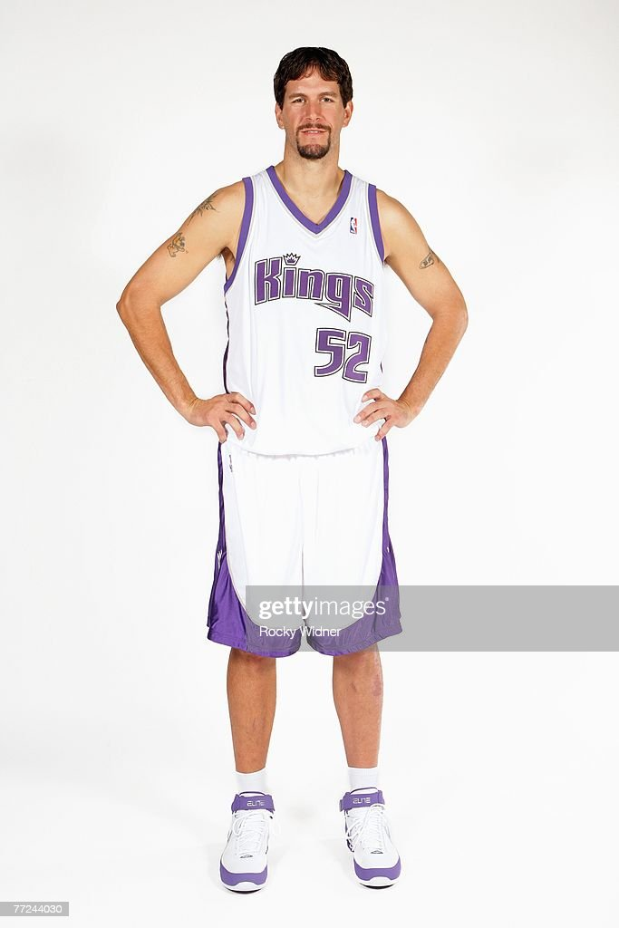 Brad Miller of the Sacramento Kings poses for a portrait during Media Day on October 1 2007 at the Practice Facility in Sacramento California NOTE TO...