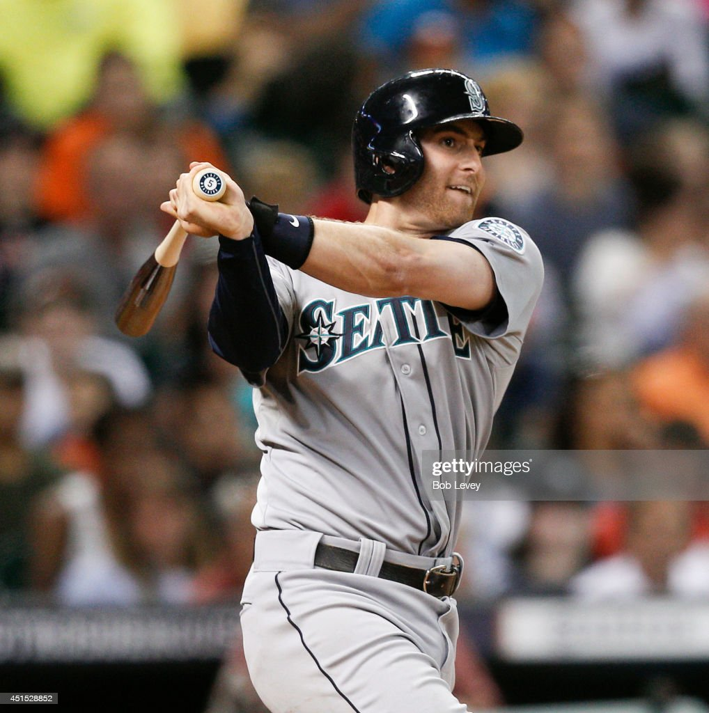 <a gi-track='captionPersonalityLinkClicked' href=/galleries/search?phrase=Brad+Miller+-+Baseball+Player&family=editorial&specificpeople=14752161 ng-click='$event.stopPropagation()'>Brad Miller</a> #5 of the Seattle Mariners hits a home run in the fourth inning against the against the Houston Astros at Minute Maid Park on June 30, 2014 in Houston, Texas.