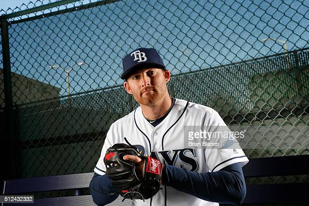 Brad Miller of the Tampa Bay Rays poses for a photo during the Rays' photo day on February 25 2016 at Charlotte Sports Park in Port Charlotte Florida