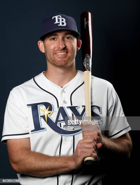 Brad Miller of the Tampa Bay Rays poses for a portrait during the Tampa Bay Rays photo day on February 18 2017 at Charlotte Sports Park in Port...