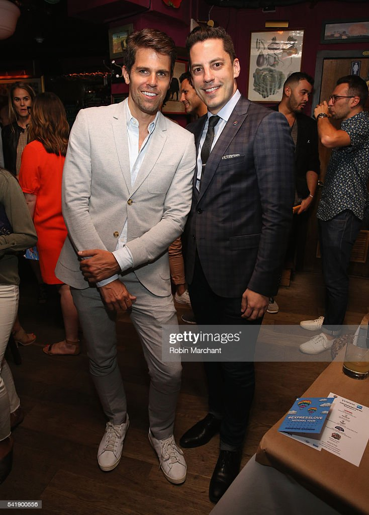 Brad Minor and Dante Mastri attend American Express Launches National LGBTQ PRIDE Campaign To 'Express Love' at The Spotted Pig on June 20, 2016 in New York City.
