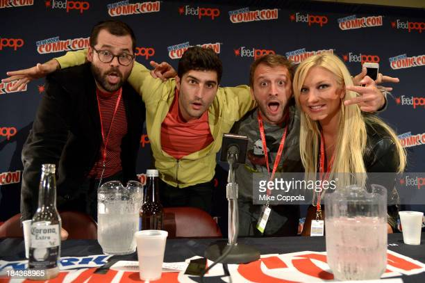 Brad Neely Dave Newberg Daniel Weidenfeld and Brooke Hogan speak at the China IL Panel during New York Comic Con 2013 at the Javits Center on October...