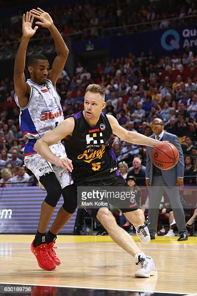 Brad Newley of the Kings drives to the basket during the round 11 NBL match between Sydney and Adelaide on December 18 2016 in Sydney Australia