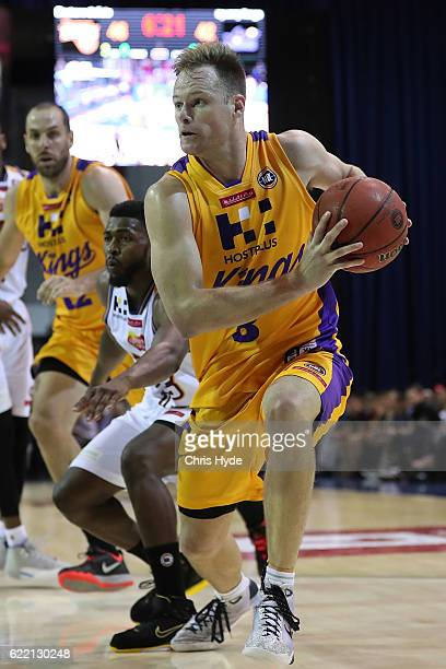 Brad Newley of the Kings drives to the basket during the round six NBL match between the Brisbane Bullets and the Sydney Kings at the Brisbane...