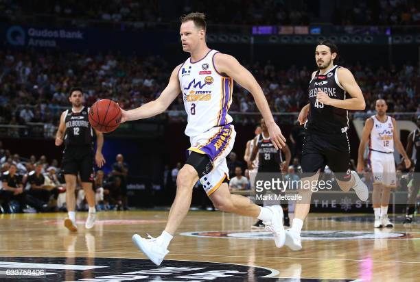 Brad Newley of the Kings in action during the round 18 NBL match between the Sydney Kings and Melbourne United at Qudos Bank Arena on February 4 2017...