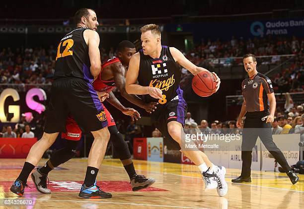 Brad Newley of the Kings in action during the round seven NBL match between the Sydney Kings and the Perth Wildcats at Qudos Bank Arena on November...