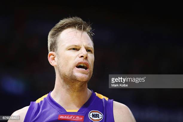 Brad Newley of the Kings shows his frustration during the round 10 NBL match between the Sydney Kings and Melbourne United at Qudos Bank Arena on...