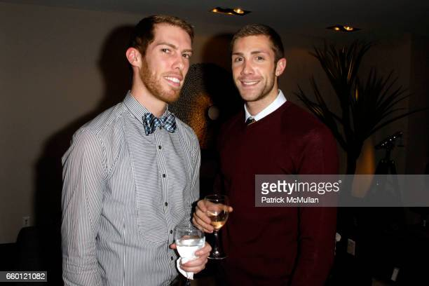 Brad Ouellette and Ryan Jacobs attend ELLE DECOR and BLOOMINGDALE'S Celebrate Reopening of Furniture Department With Auction Benefitting CFDA at...