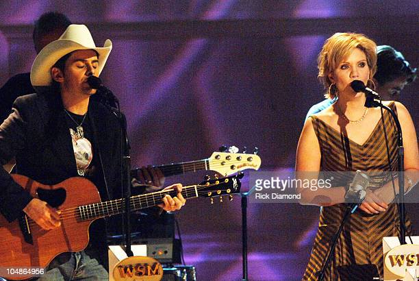 Brad Paisley and Alison Krauss during The 39th Annual CMA Awards Grand Ole Orpy Celebrates 80 Year History at Carnegie Hall in New York City New York...