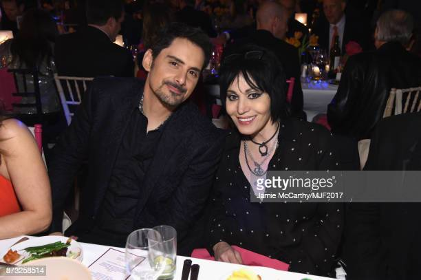 Brad Paisley and Joan Jett attend A Funny Thing Happened On The Way To Cure Parkinson's at the Hilton New York on November 11 2017 in New York City