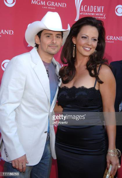 Brad Paisley and Sara Evans during 41st Annual Academy of Country Music Awards Arrivals at MGM Grand Theater in Las Vegas Nevada United States