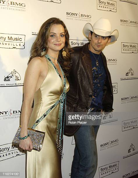 Brad Paisley and wife Kimberly WilliamsPaisley during The 39th Annual CMA Awards SONY BMG After Party Arrivals at Gotham Hall in New York City New...