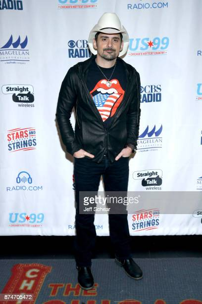 Brad Paisley attends a meet greet for CBS RADIO's Third Annual 'Stars and Strings' Concert to honor our nation's veterans at Chicago Theatre on...
