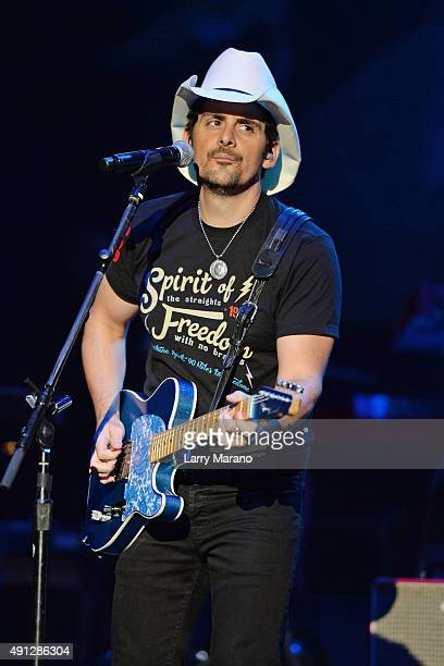 Brad Paisley performs at The Perfect Vodka Amphitheater on October 3 2015 in West Palm Beach Florida