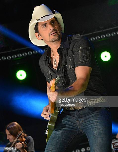 Brad Paisley performs during the 2012 CMA Music Festival Day 1 at LP Field on June 7 2012 in Nashville Tennessee