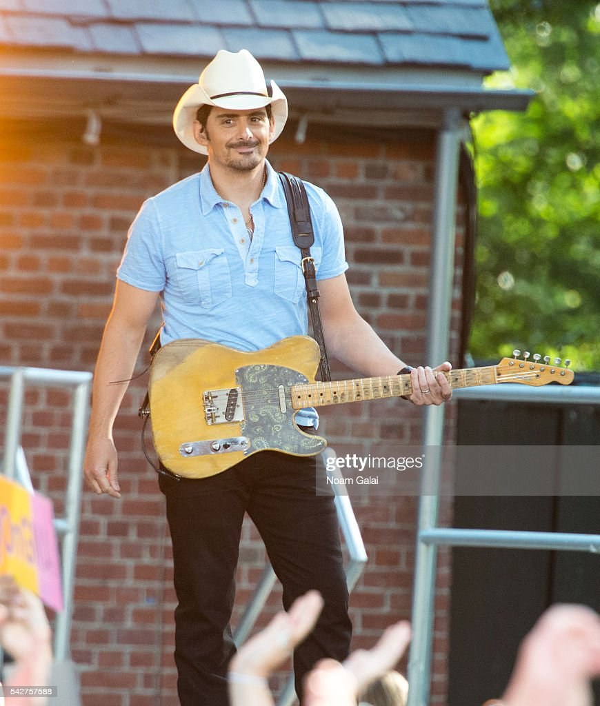 Brad Paisley performs on ABC's 'Good Morning America' at SummerStage at Rumsey Playfield, Central Park on June 24, 2016 in New York City.