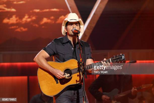 Brad Paisley performs onstage during the 11th Annual ACM Honors at the Ryman Auditorium on August 23 2017 in Nashville Tennessee