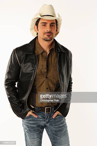 Brad Paisley poses in the Wonderwallcomcom Portrait Studio during 2012 CMT Music awards at the Bridgestone Arena on June 6 2012 in Nashville Tennessee