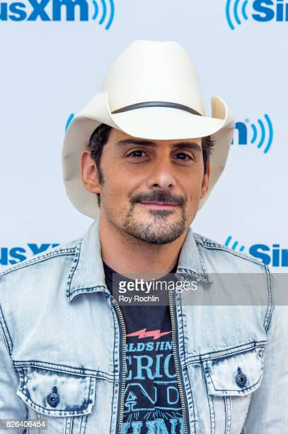 Brad Paisley visits Sirius XM at SiriusXM Studios on August 4 2017 in New York City