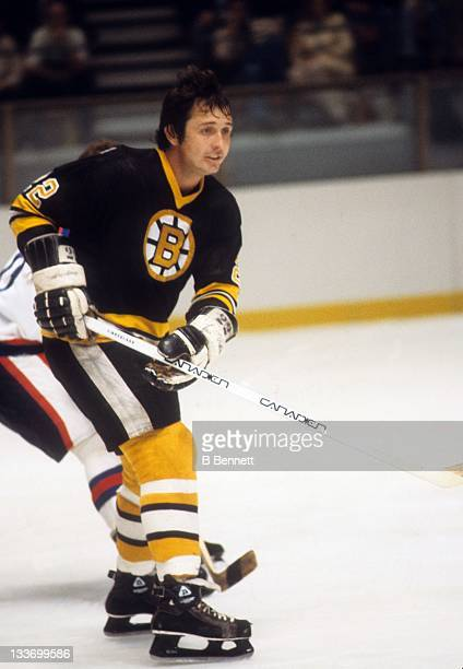 Brad Park of the Boston Bruins skates on the ice during an NHL game against the New York Rangers on December 3 1978 at the Madison Square Garden in...