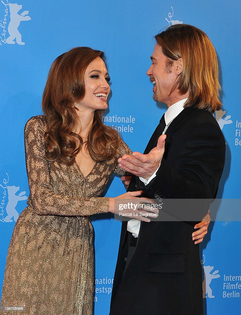 Brad Pitt and director Angelina Jolie attend the 'In The Land Of Blood And Honey' Premiere during day three of the 62nd Berlin International Film Festival at the Haus der Berliner Festspiele on February 11, 2012 in Berlin, Germany.