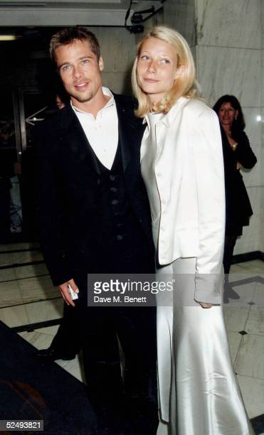 Actors Brad Pitt and Gwyneth Paltrow on April 26 1995 in London