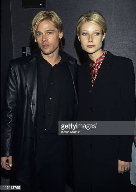 Brad Pitt and Gwyneth Paltrow during 'The Devil's Own' Premiere at Cinema One in New York City New York United States
