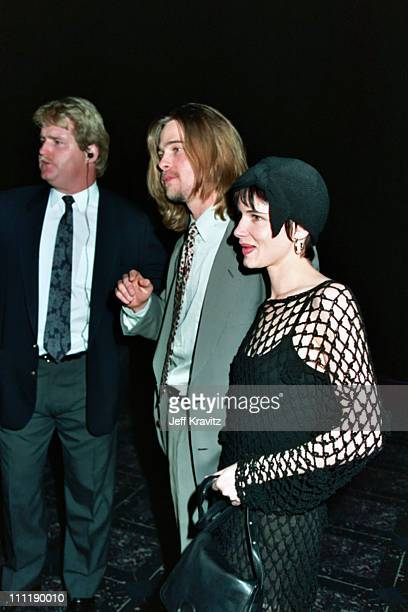 Brad Pitt and Juliet Lewis during 1993 ShoWest in Las Vegas Nevada United States