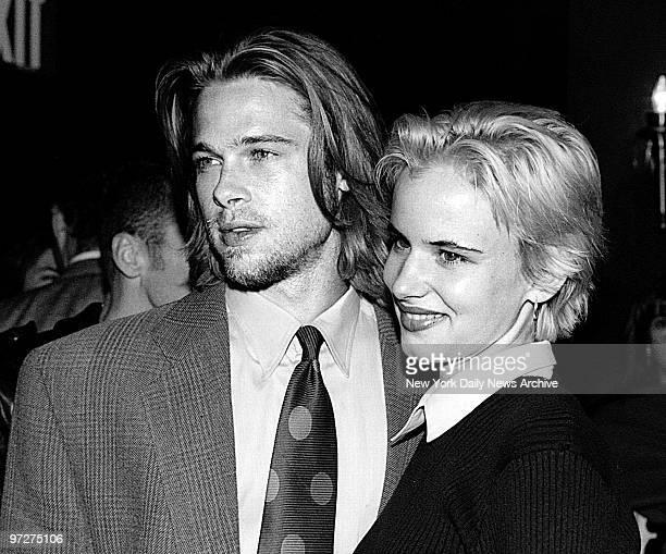 Brad Pitt and Juliette Lewis arrive at the Ziegfeld Theater