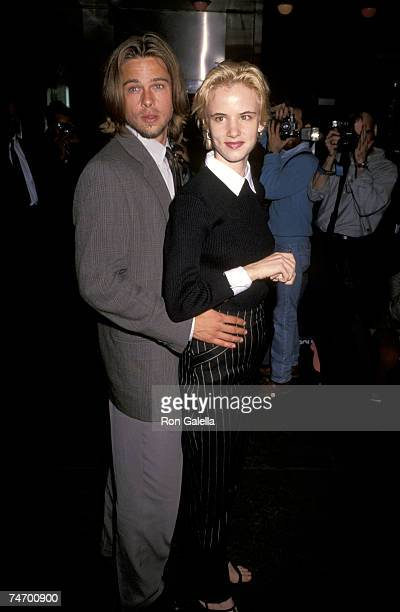 Brad Pitt and Juliette Lewis at the Ziegfeld Theater in New York City NY