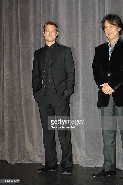 Brad Pitt and Koji Yakusho during 31st Annual Toronto International Film Festival 'Babel' Premiere Arrivals at Roy Thompson Hall in Toronto Ontario...