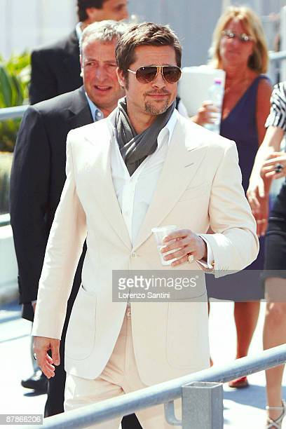 Brad Pitt arrives at the Palais des Festivals of Cannes on May 20 2009 in Cannes France