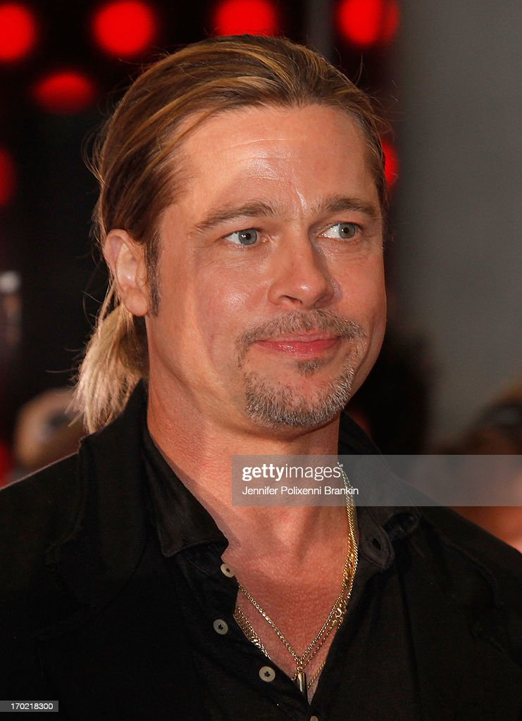 <a gi-track='captionPersonalityLinkClicked' href=/galleries/search?phrase=Brad+Pitt+-+Actor&family=editorial&specificpeople=201682 ng-click='$event.stopPropagation()'>Brad Pitt</a> arrives at the 'World War Z' Australian premiere at the Star on June 9, 2013 in Sydney, Australia.