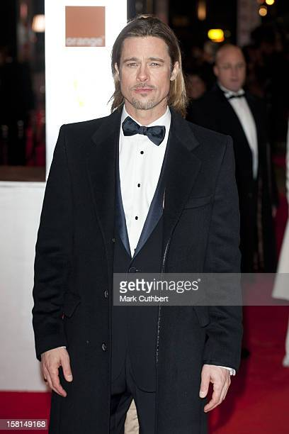 Brad Pitt Arriving For The 2012 Orange British Academy Film Awards At The Royal Opera House Bow Street London